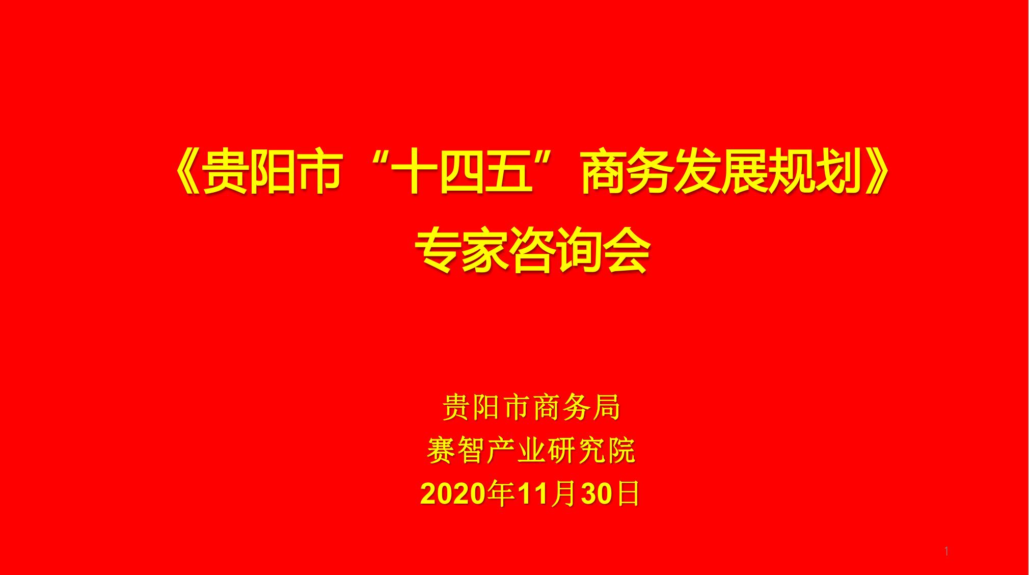 """《贵阳市""""十四五""""商务发展规划》专家咨询会在北京举行"""