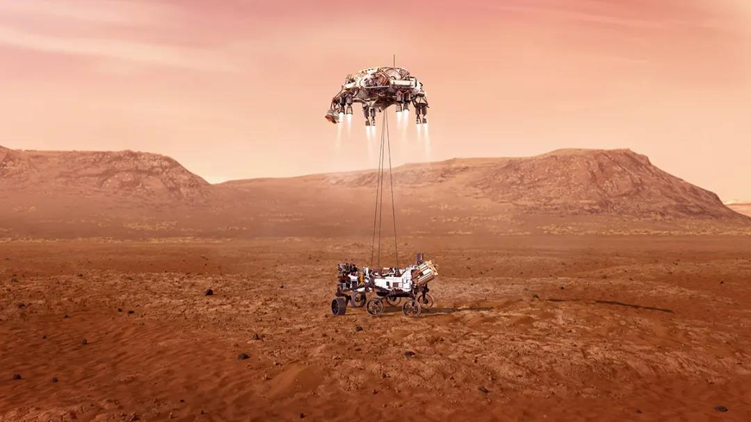 """刚刚,""""毅力""""号火星车成功登陆火星!已传回首张火星照片"""
