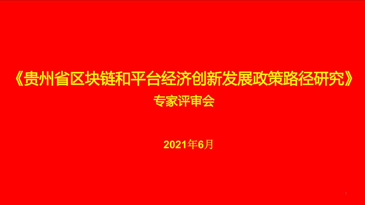 《贵州省区块链和平台经济创新发展政策路径研究》顺利通过专家评审会