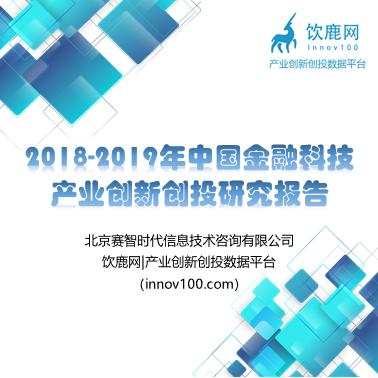 2018-2019年中國金融科技產業創新創投研究報告